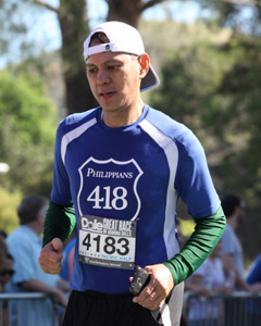 Norman running a marathon to stay active