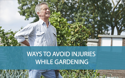 Ways to avoid injury while gardening